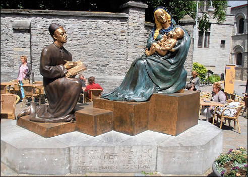 Sculptuur van Marcel Wolfers voor Rogier van der Weyden