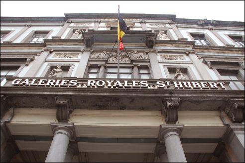 Ingang St Hubert Galerijen Brussel