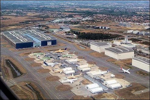 Airbusfabriek in Toulouse