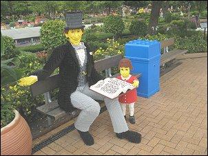 Hans Christiaan Andersen in Legoland (Foto: Ben Hendriks)