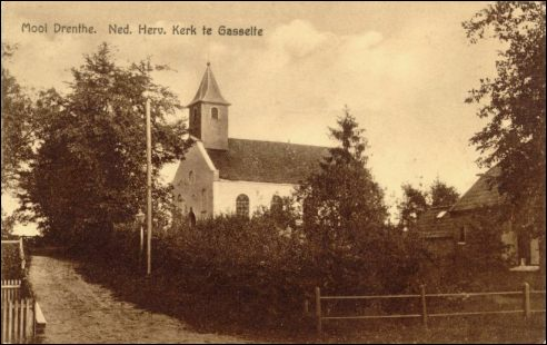 De oude N.H. Kerk te Gasselte