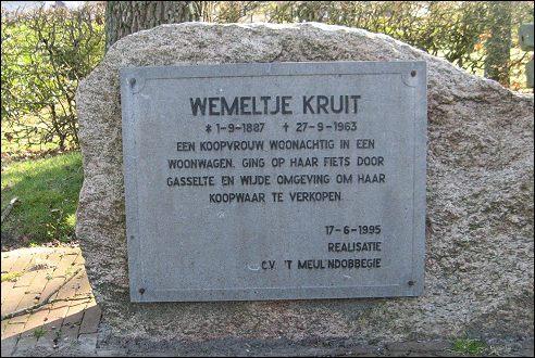 Gedenkplaat Wiemeltje Kruit