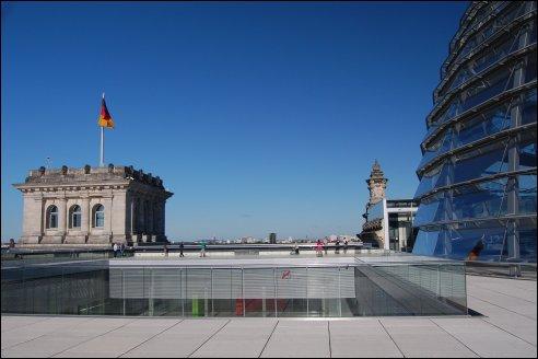Op het dak van de Rijksdag