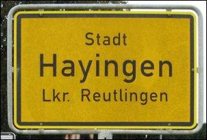 Plaatsnaambord Hayingen (Foto: Ben Hendriks)