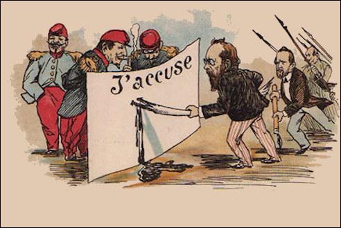Émile Zola beschuldigd de staat