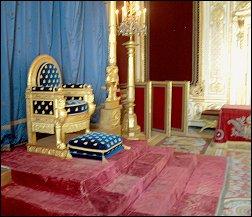 Paleis Fontainebleau troon Napoleon
