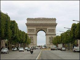 Arc de Triomphe vanaf Champs-Élysées