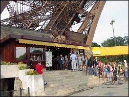 Ingang Eiffeltoren Parijs