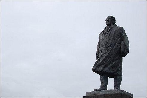 Standbeeld Cornelis Lely op de Afsluitdijk