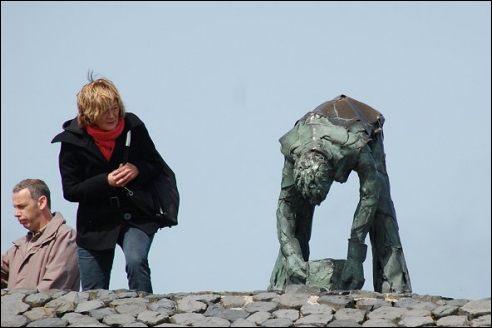 Steenzetter Afsluitdijk