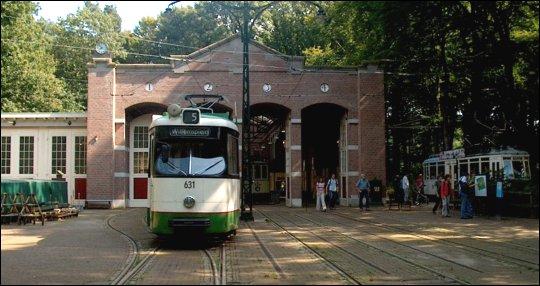Tramremise van het Openluchtmuseum