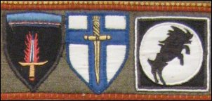 Bevrijdingsmuseum insignes legerkorpsen (Foto: Ben Hendriks)
