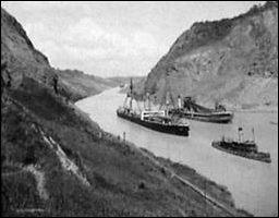 Panamakanaal begin twintigste eeuw