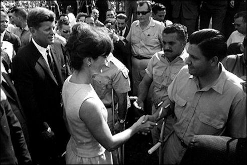 John F. Kennedy en Jacqueline Kennedy