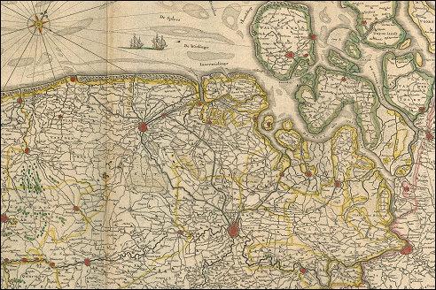 Antwerpen op kaart Flandria et Zeelandia