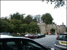 Ingang voor publiek kasteel Arundel