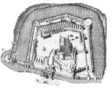Plattegrond Tower in Londen rond 1600