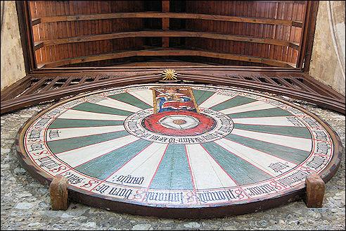 Koning Arthur Ronde Tafel.Great Hall Winchester Met Ronde Tafel Koning Arthur