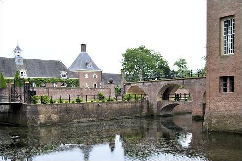 Toegangsbrug van kasteel Amerongen