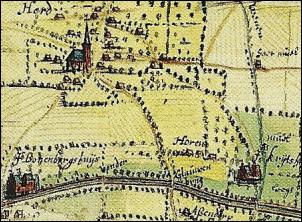 Kaart Bonenburg in Heerde
