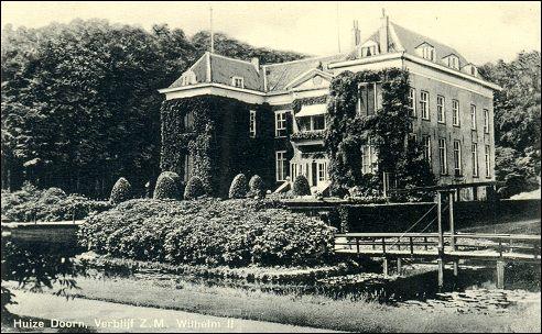 Huis Doorn in jaren dertig