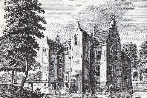 Kasteel Ter Mey omstreeks 1744