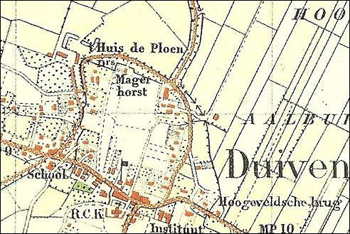 Kaart Duiven 1910