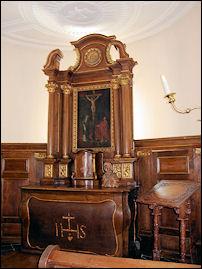 Het altaar in kasteel Hoensbroek