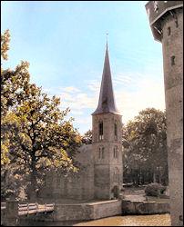 De kapel op het voorterrein bij kasteel De Haar