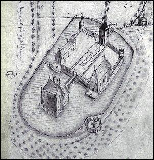Middachten, detail op een kaart van Nicolaes van Geelkercken uit 1652