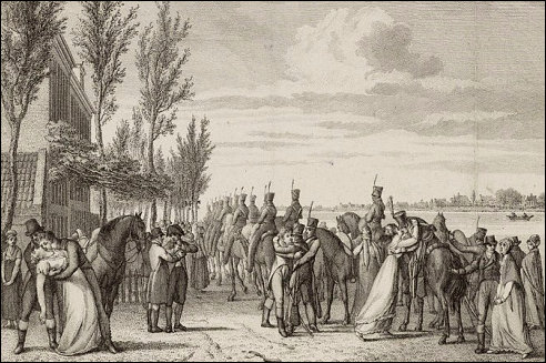 Vertrek Fransen in 1813