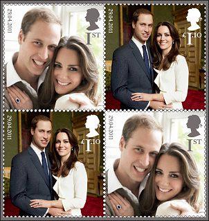Britse postzegels Huwelijk William en Kate