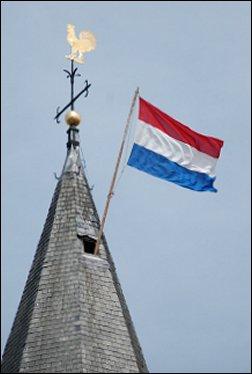 Vlag in kerktoren