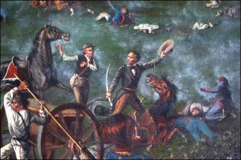 Sam Houston tijdens de Slag om San Jacinto