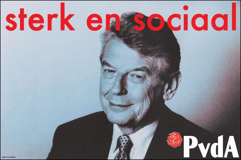 Verkiezingsposter van de PvdA uit 1998