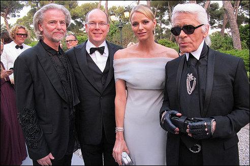 Charlene en Albert van Monaco