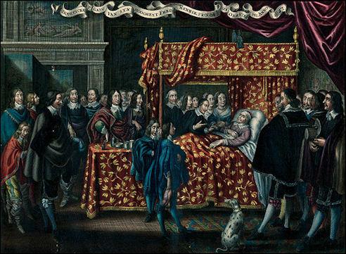 Prins Frederik Hendrik op zijn sterfbed