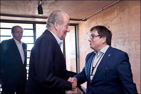 Juan Carlos bij Paranal