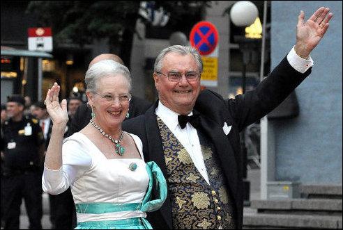 Henri en  Margrethe II in 2010