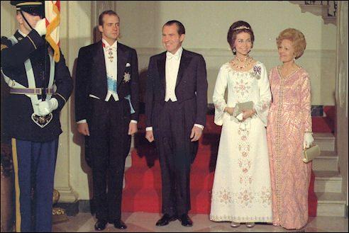 Juan Carlos bezoekt Nixon