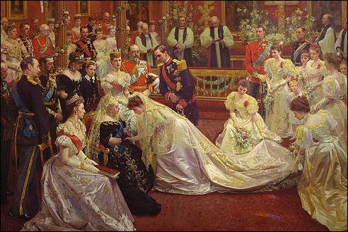 Laurits Tuxen: Het huwelijk van Maud en Haakon VII van Noorwegen