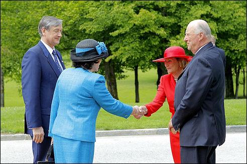 Harald V en Sonja in Slovenie