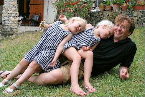 Prins Friso en zijn dochters Luana en Zaria, 2010