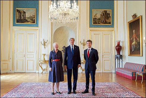 koningin en de kroonprins van Denemarken