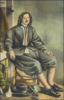 Tsaar Peter de Grote in Zaandam