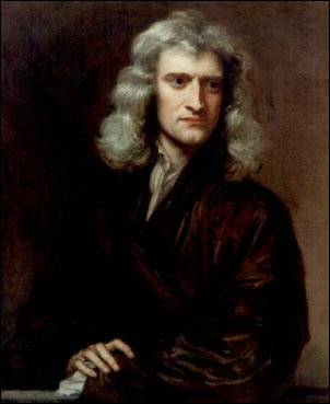 Isaac Newton door Godfrey Kneller