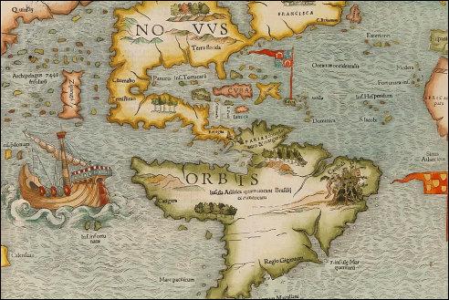 Eerste kaart van de Nieuwe Wereld