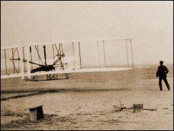 Eerste vlucht Orville en Wilbur Wright