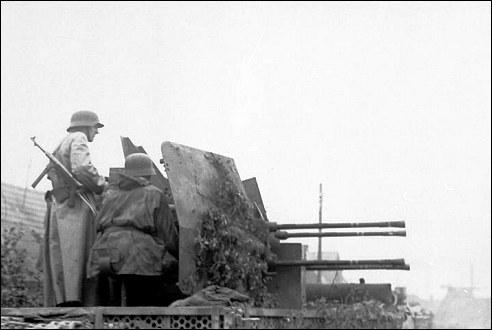 Duitse soldaten tijdens de opstand in Warschau