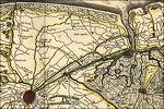 Willem Blaeu: Kaart van Vlaanderen met het Zwin in 1635